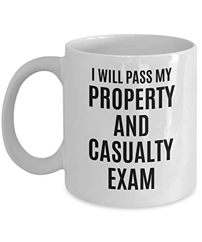 Property & Casualty Exam Motivation Mug - Perfectly Matched Companion To Your Preparation/Prep Review Book Study Guide 2019/2020 MS80ON