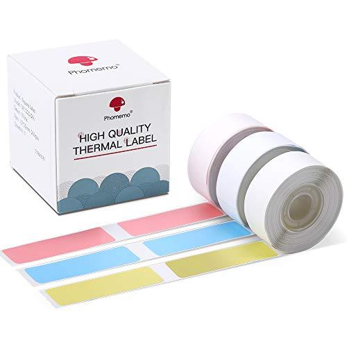 D30 Klebeetiketten Bunt 14x50mm Druckpapierband für D30 Bluetooth Tragbarer Etikettendrucker