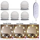 Niome 10 LED Hollywood Style LED Vanity Mirror Lights Kit with 3 Color