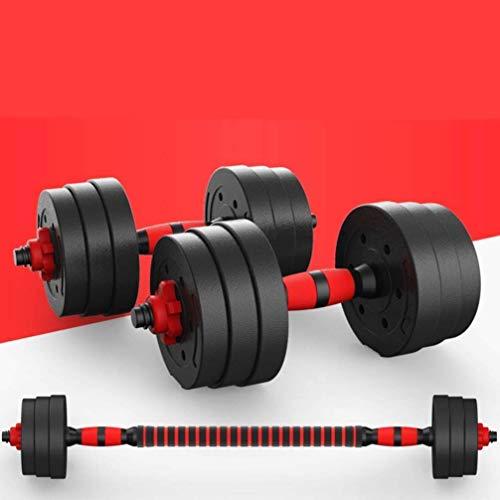 Kit Mancuernas Regulables 30KG Musculación Juego Pesas 2 en 1 Barra Conector Ajustable Set Pesas Gi