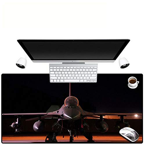 HonGHUAHUI vliegtuig-kwaliteitsspeler, tafelrekenmachine, speel-notitieboek, muisonderlegger, vriend-cadeau 400X900X4MM A04