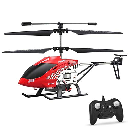 XIAOKEKE USB Charging Cable Remote Control Helicopter Toys with LED Stabilizing System Indoor, Outdoor Toy Airplane Helicopter 3.5 Channels RC Drone Helicopter Gifts for Teenagers Boys Girls,Red