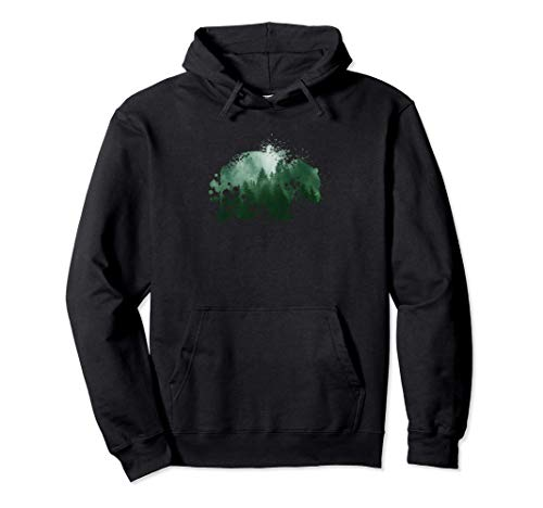 Naturliebhaber | Tiermotiv Silhouette | Braunbär Grizzlybär Pullover Hoodie
