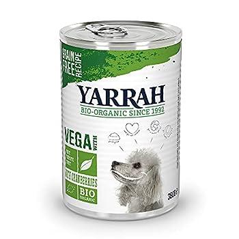 YARRAH VEGA Nourriture pour Chien Humide - pour toutes les races et tous les âges | Pâté biologique exquis à la canneberge, 12 x 380gr | 100% Bio, sans grain et sans additifs artificiels