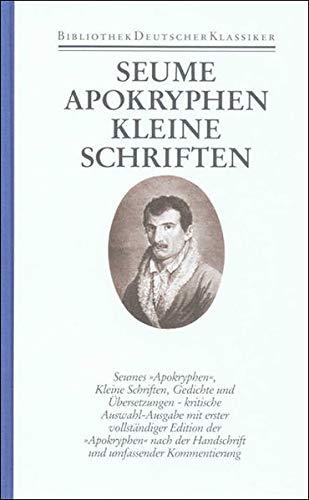 Werke und Briefe in drei Bänden: Band 2: Apokryphen. Kleine Schriften. Gedichte. Übersetzungen