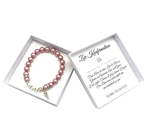 Konfirmation Geschenk Mädchen, Armband mit Namen, Box mit Personalisierung, Konfirmationsgeschenk