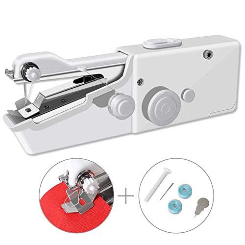 LMM Mini Handheld Naaimachine Elektrische Draagbare Hand Steek Kleding Snelle Reparatie voor Doek Gordijn DIY, Naaimachines voor beginners volwassene, kinderen naaimachine, Naaimachine naalden universeel