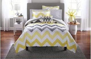 grey and yellow chevron comforter