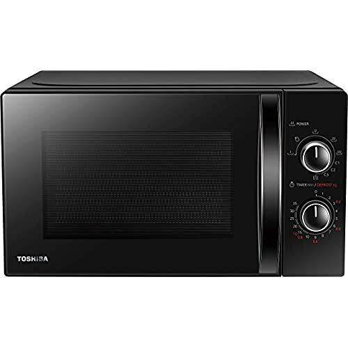 Toshiba MW-MG20P (BK) Forno a Microonde con Grill 800 W con Crispy Grill 1000 W, 20 litri, Nero