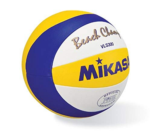 Mikasa VLS300, Beach Champ, offizieller Spielball der FIVB, blau/gelb