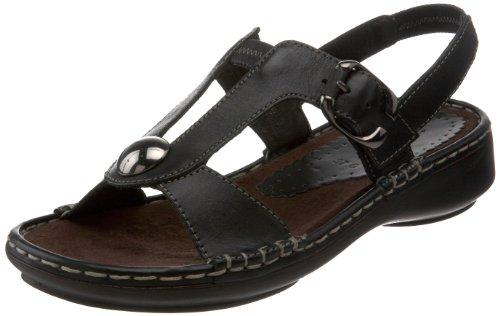 ara Women's Balin Slingback Sandal,Black Leather,38 EU/7.5-8 M US