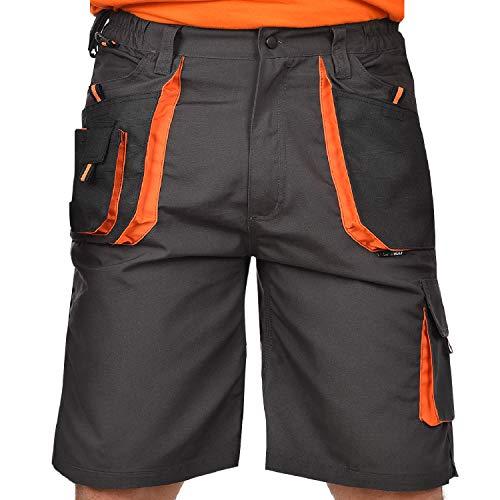 BWOLF Atlas Short de Travail Classique pour Homme avec Poches Multifonctions Gris/Orange - Gris - Medium