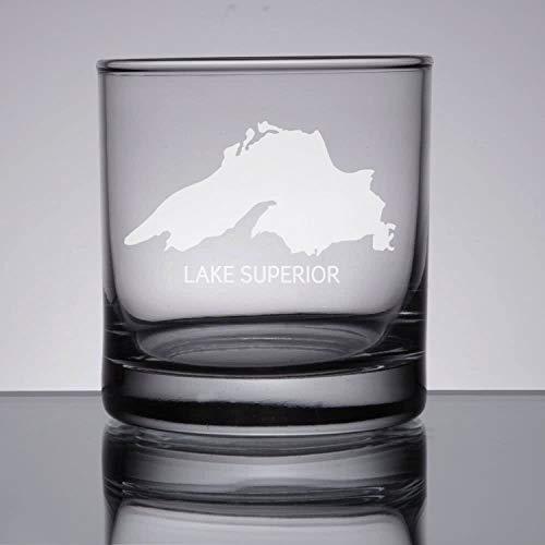 DKISEE Copa de vino Boston grabada, copa de whisky grabada, cristal de Boston Skyline, copa de cóctel, copa de cóctel, 11 onzas de grosor con fondo de peso transparente 0,3 l G011.