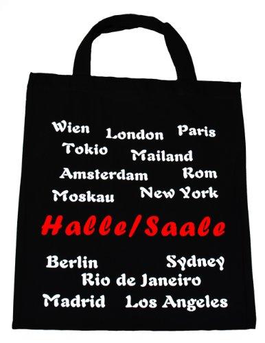 Baumwolltasche, Beutel, Bag - Stadt Halle Saale kurzer Henkel/Shopper