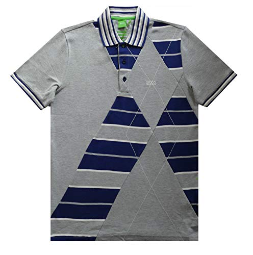 BOSS POLO HUGO PADDY 3 COLLECTION GREEN M GRIS MANCHES COURTES