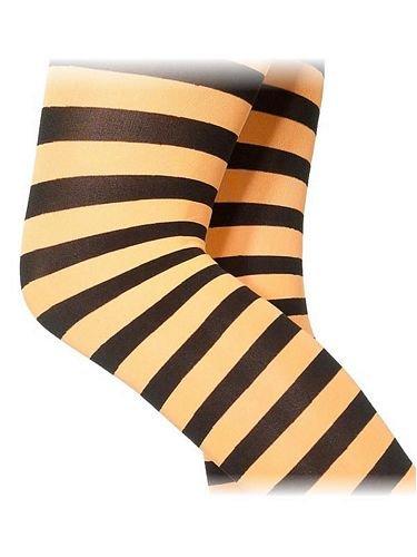 Collants Sorcière Noir/Orange - Taille 6/12 ans