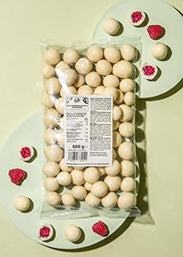 KoRo - Skinny Dipped Gefriergetrocknete Himbeeren in weißer Schokolade - 500 g