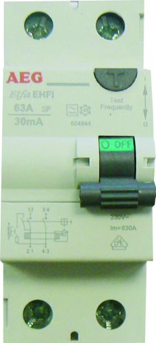 AEG AUN604944 - Interruptor diferencial (63 A, 30 mA, Tipo A)