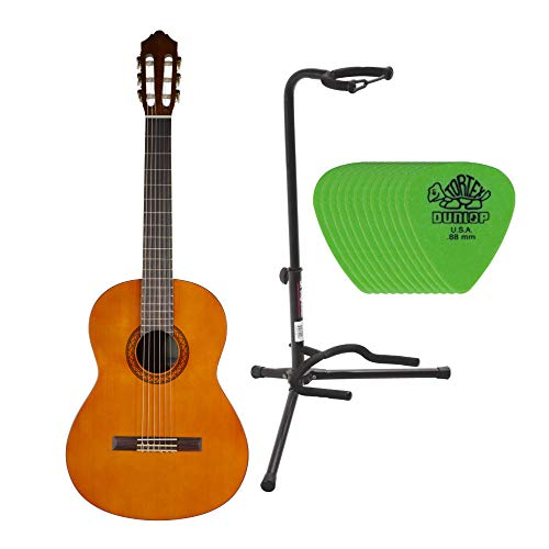 Yamaha C40 Gigmaker Classic Guitar Package with On Stage Guitar Stand and Dunlop...