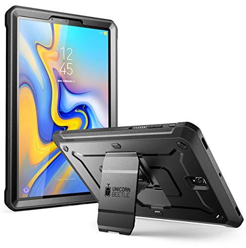 SupCase Hülle für Samsung Galaxy Tab S4 10.5 Zoll Case 360 Grad Schutzhülle Robust Cover Schale [Unicorn Beetle PRO] mit integriertem Displayschutz und Ständer 2018 (SM-T830 / T835 / T837) (Schwarz)