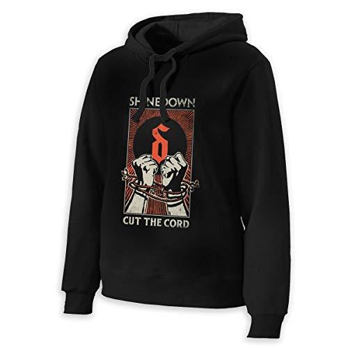 FHJEyh3 Shinedown Cut The Cord Womens Girls Long Sleeve Hoodie Sweatshirts Half Dome Pullover Hoodie Black