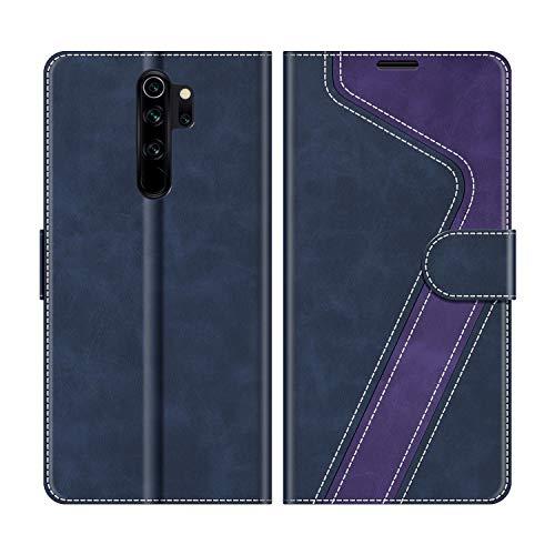 MOBESV Handyhülle für Xiaomi Redmi Note 8 Pro Hülle Leder, Xiaomi Redmi Note 8 Pro Klapphülle Handytasche Hülle für Xiaomi Redmi Note 8 Pro Handy Hüllen, Dunkelblau/Violett