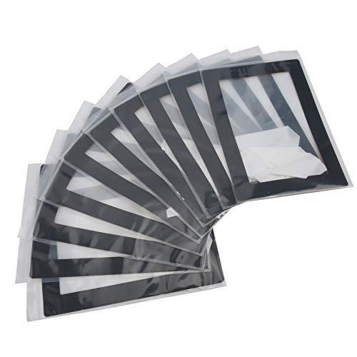Emoshayoga Guarnizione Adesiva Resistente alla Resina, Pellicola FEP Stabile e duratura FEP 10 Pezzi con 10 X Stick su Guarnizione di Protezione Pad per l'industria per Wanhao D7