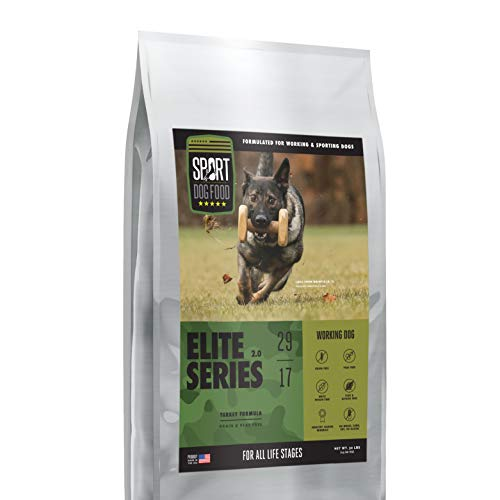 Elite Series Working Dog Turkey Formula, Grain and Peas Free Dry Dog Food, 30 lb. bag