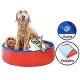 Bosixty Pliable Dur en Plastique Kiddie Bébé Chien Pet Pet Piscine Piscine Pliable Chien Pet Pet Baignoire Baignoire Kiddie Piscine pour Enfants Animaux Chiens Chats