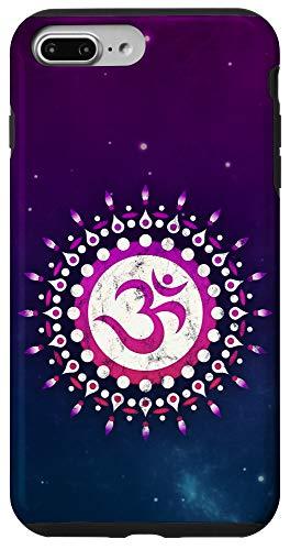 iPhone 7 Plus/8 Plus OM mantra, sun, symbol, mandala, flower, Yoga, Namaste, love Case
