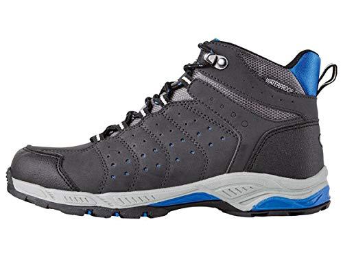 Crivit Jungen Outdoorschuhe Trekkingschuhe Wanderschuhe Stiefel Atmungsaktiv Wasser und windabweisend durch eingearbeitete TEXMembran (Navy Grau, 32)