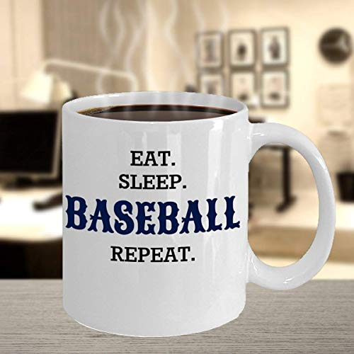 Eat Sleep Baseball Repeat MugFor The Devoted Player Coach or FanPerfect Birthday