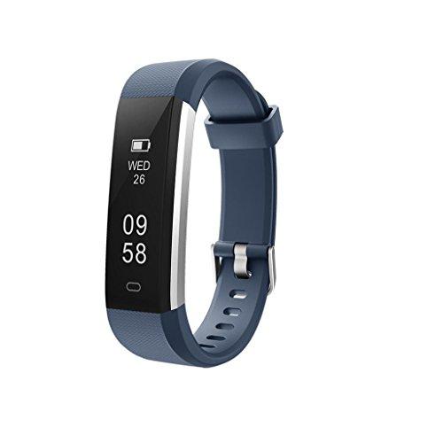 Alexis 2018 Fitness-Tracker, wasserdicht, Schrittzähler, Kalorienzähler, schlankes Armband für Männer, Frauen und Kinder, Marineblau