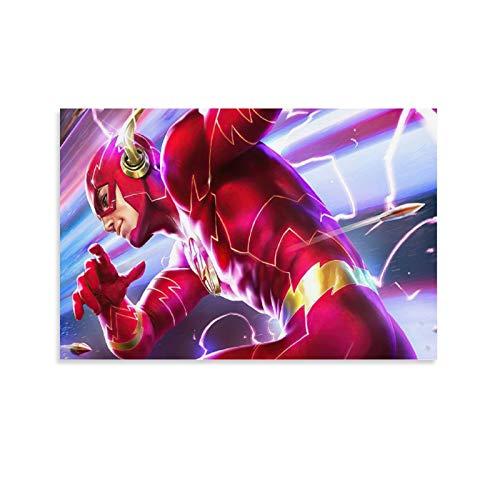 xiaoxiami DC Comics - Póster de lienzo con flash y diseño de pared (30 x 45 cm)