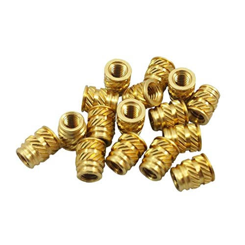 100x M3 3mm M3-0.5 Brass Threaded Metal Heat Set Screw Inserts 3D Printing Long Tool Accessories