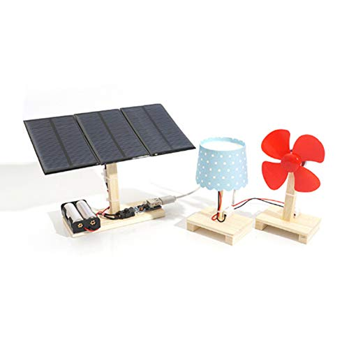 0Miaxudh DIY Solar Power Spielzeug, DIY Solar Panel Ventilator Tischlampe Modell Kit Physikalische Wissenschaft Experiment Spielzeug