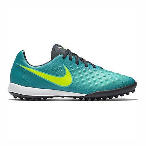 Nike 844421-375, Botas de fútbol para Niños, Azul (Rio Teal/Volt/Obsidian/Clear Jade), 35 EU