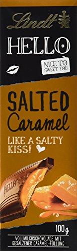 Lindt & Sprüngli Hello, Salted Caramel, Tafel, 6er Pack (6 x 100g)