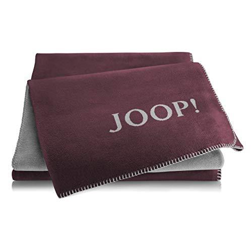 Joop! Plaid Uni-Doubleface | Bordeaux-Graphit - 150 x 200 cm