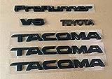 OLPAYE 6pcs Fit For compatible Ta Matte Black Tag Door Fender Emblem Decal Badge Nameplate (MATTE BLACK 6PCS)