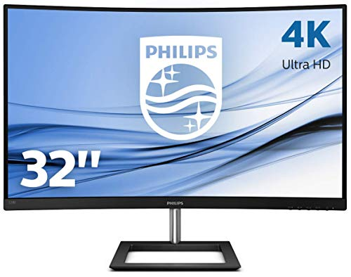 Philips 328E1CA/00 Monitor de 31.5' Curvo 4K Ultra HD (3840 x 2160 Pixeles, 4 ms, Contraste: Mega Infinity DCR, AdptiveSync, FlickerFree, Altavoces, HDMIx2, Displayport)