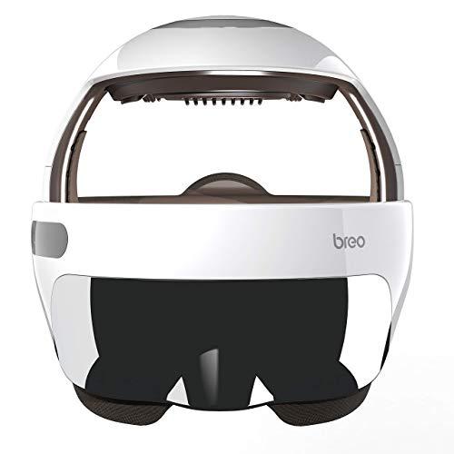 Breo iDream5s Electric Head Massager, Eye & Neck Massage Helmet with Heat, Kneading, Air Compression, APP Control Scratcher for Headache, Stress Relief, Deep Sleeping
