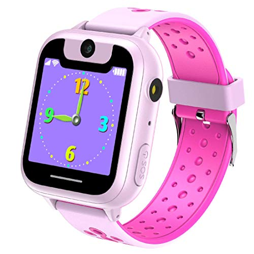 Kids Smartwatches with Games for Boys Girls - Smart Watches with Digital Camera Alarm Clock Children's Smart Wrist Sports Pedometer Kids Gifts Learning Toys(rosso)