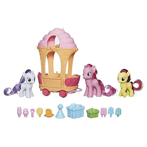 My Little Pony Cutie Mark Magic Pinkie Pie Sweetie Belle & Apple Bloom Rolling Sweets Cart by My Little Pony