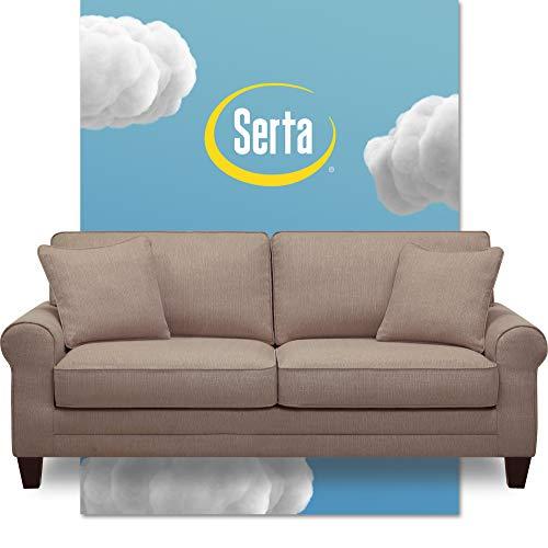 """Serta Copenhagen, 78"""" Sofa, Beige"""