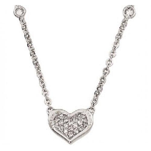 Cerruti 1881 Damen-Halskette Sterling Silber Zirkonia 39cm R42062Z