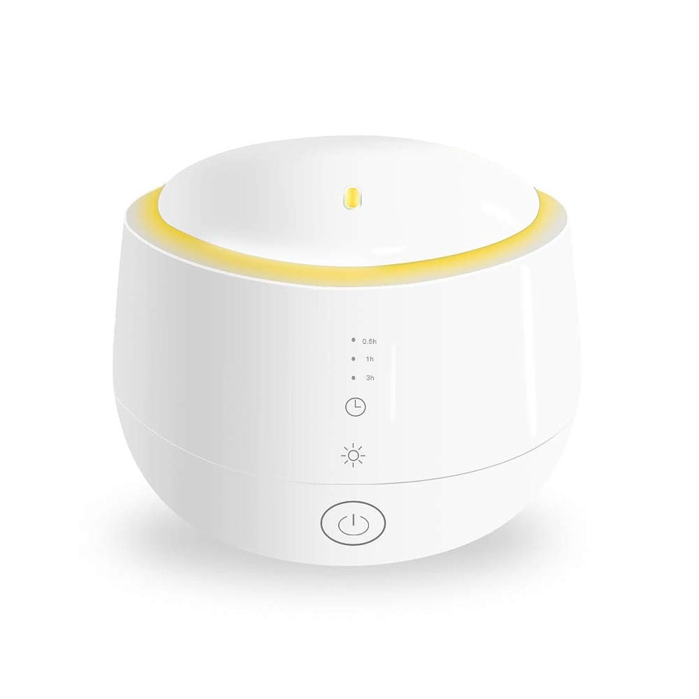 閉じる合併式Smiler+ 超音波式 アロマディフューザー 加湿器 ムードランプ 大容量 ガラスカバー 空焚き防止機能搭載 変色LED付き 低騒音 時間設定