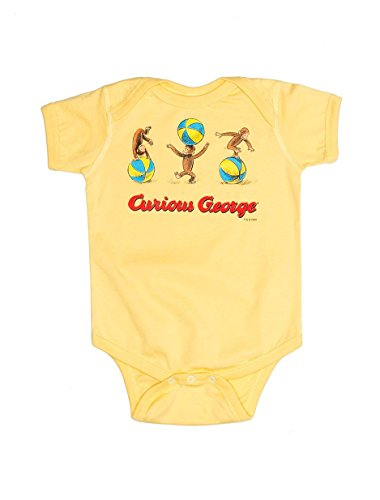 Out of Print Infant Curious George Bodysuit 12 Month Butter