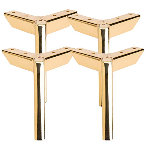 Metal Furniture Legs Elevates Dresser,Table Legs,diy Legs,Replacement Leg For Sofa TV Stand, Cabinet(Size:8cm,Color:gold)