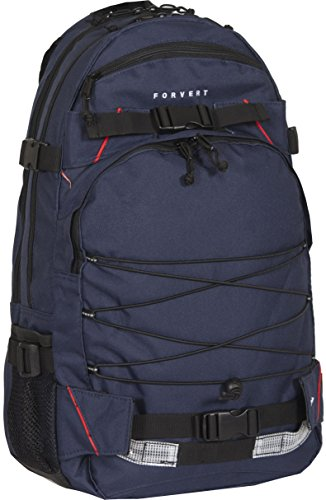 FORVERT Unisex Bag Laptop Louis sportlich-lässiger Laptoprucksack mit durchdachter Ausstattung und Boardcatcher, blau (Navy)